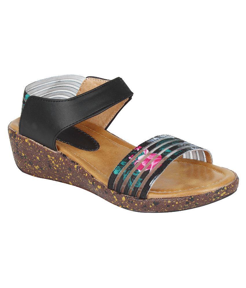 Glitzy Galz Multi Color Wedges Heels