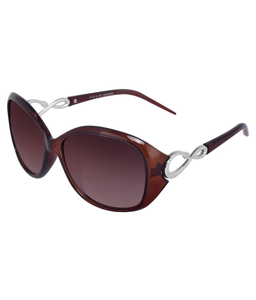 Silver Kartz Brown Oval Sunglasses ( wy058 )