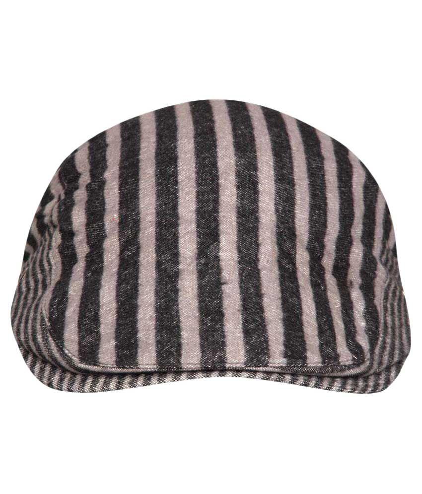 Fabseasons Gray Cotton Cap for Men
