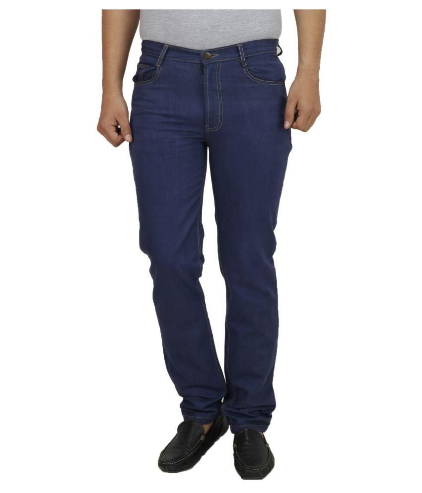 Koutons Outlaw Blue Regular Fit Solid Jeans
