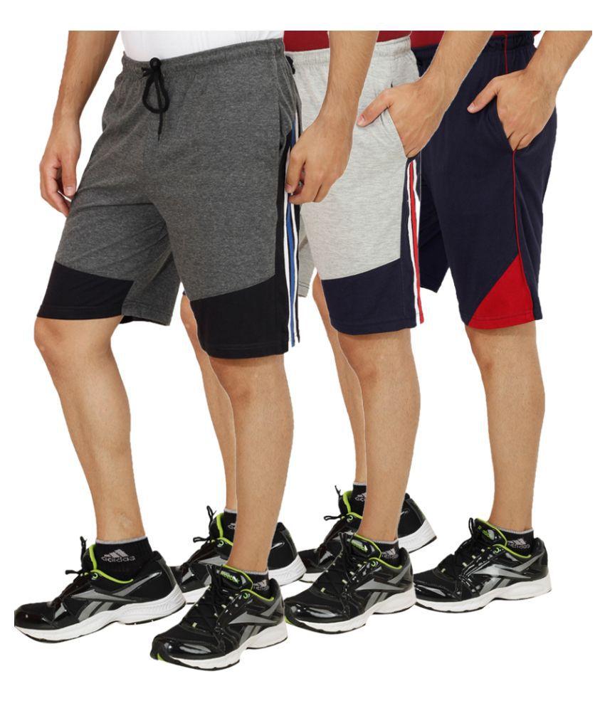 Sanvi Traders Multi Shorts Pack of 3