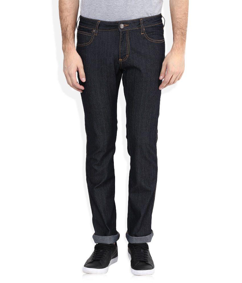 Wrangler Black Skanders Slim Fit Jeans