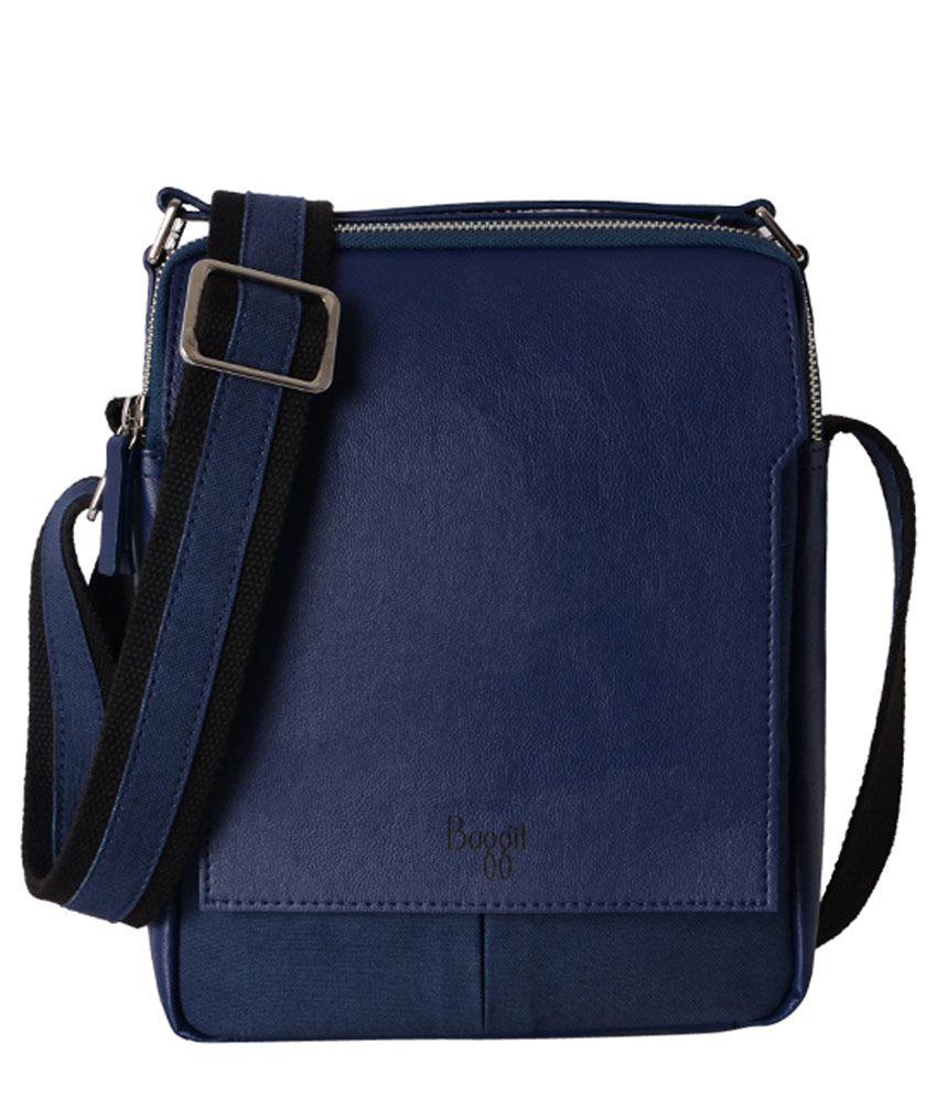 Baggit Blue Synthetic Sling Bag