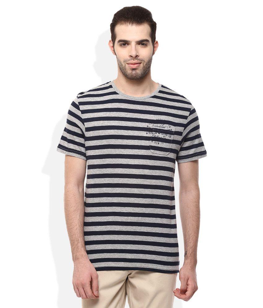 Celio Grey Round Neck T Shirt