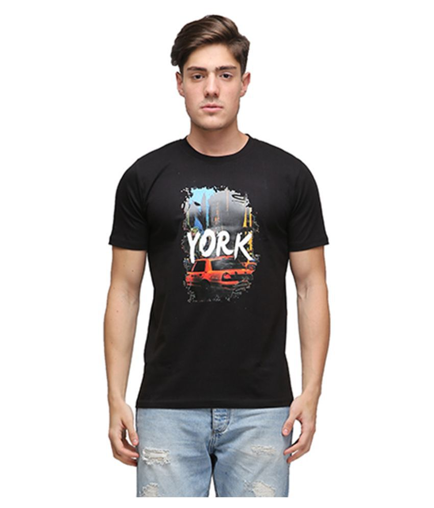 Effit Black Round T Shirt