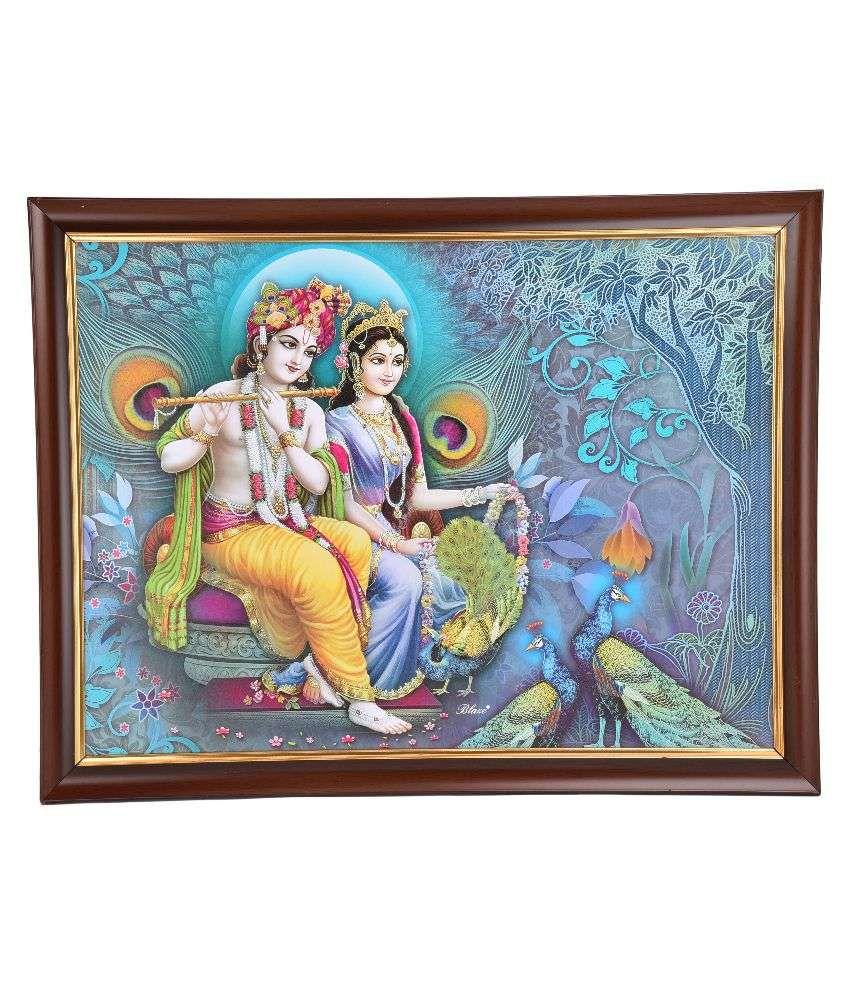 Gatts Blue Fiber Radha Krishna Paintings