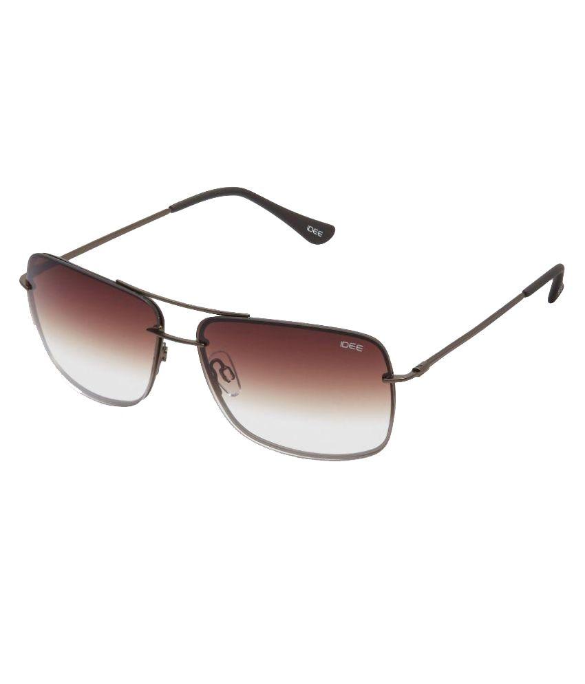 Idee Brown Rectangle Sunglasses S1998 C8 Buy Idee Brown