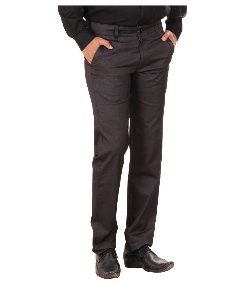 Metalica Brown Regular Fit Chinos