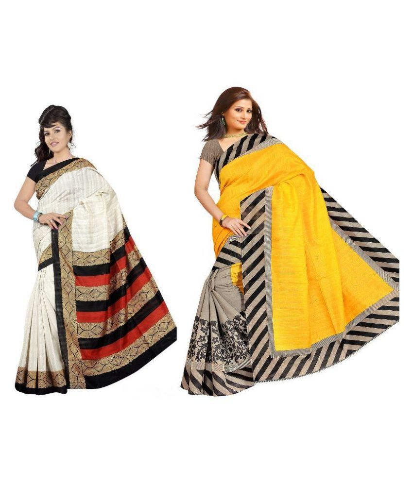Muta Fashions Multicoloured Bhagalpuri Silk Saree Combos