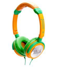 IDance Headphone Over Ear Wired With Mic Headphone- Green