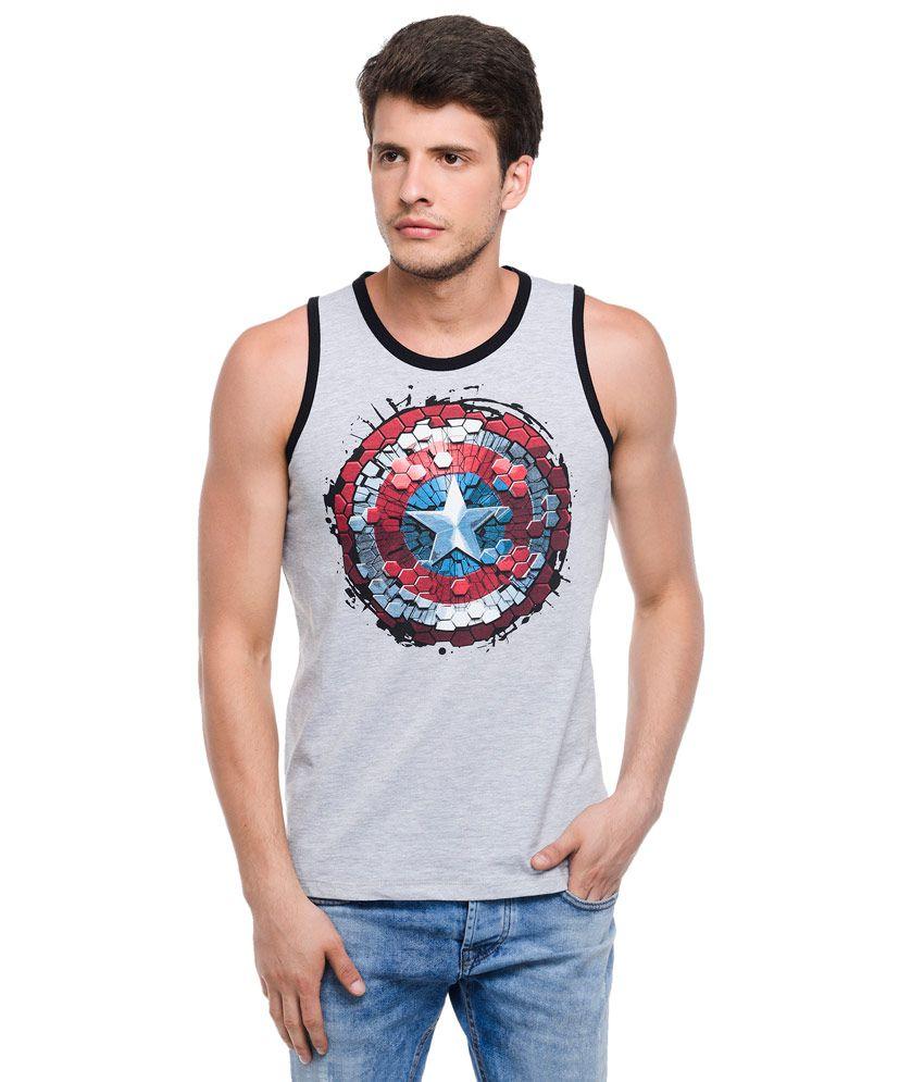Civil War Grey Round Neck T Shirt