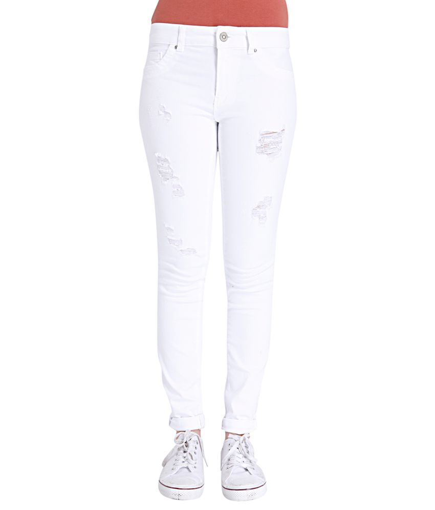 ONLY White Slim Fit Jeans