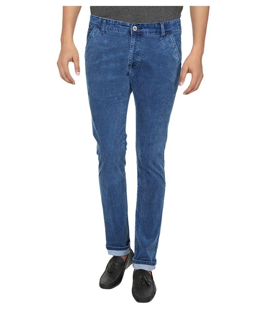 Fever Blue Slim Fit Solid Jeans