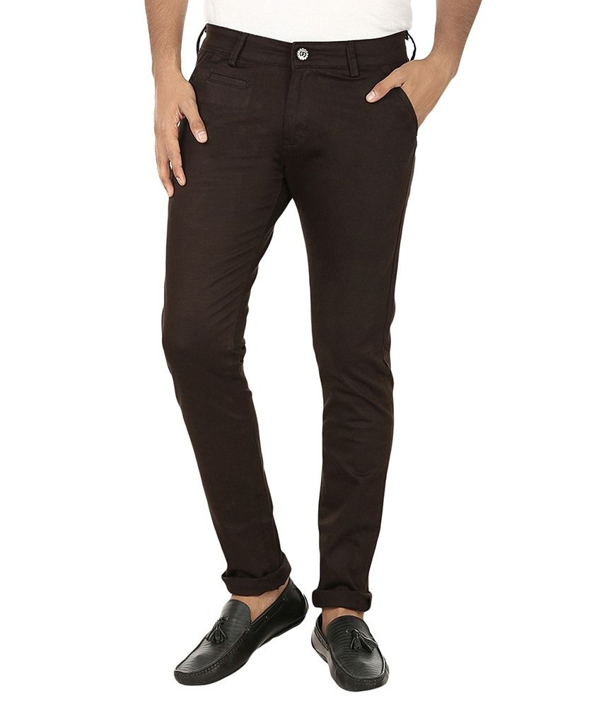 Fever Brown Slim Fit Chinos