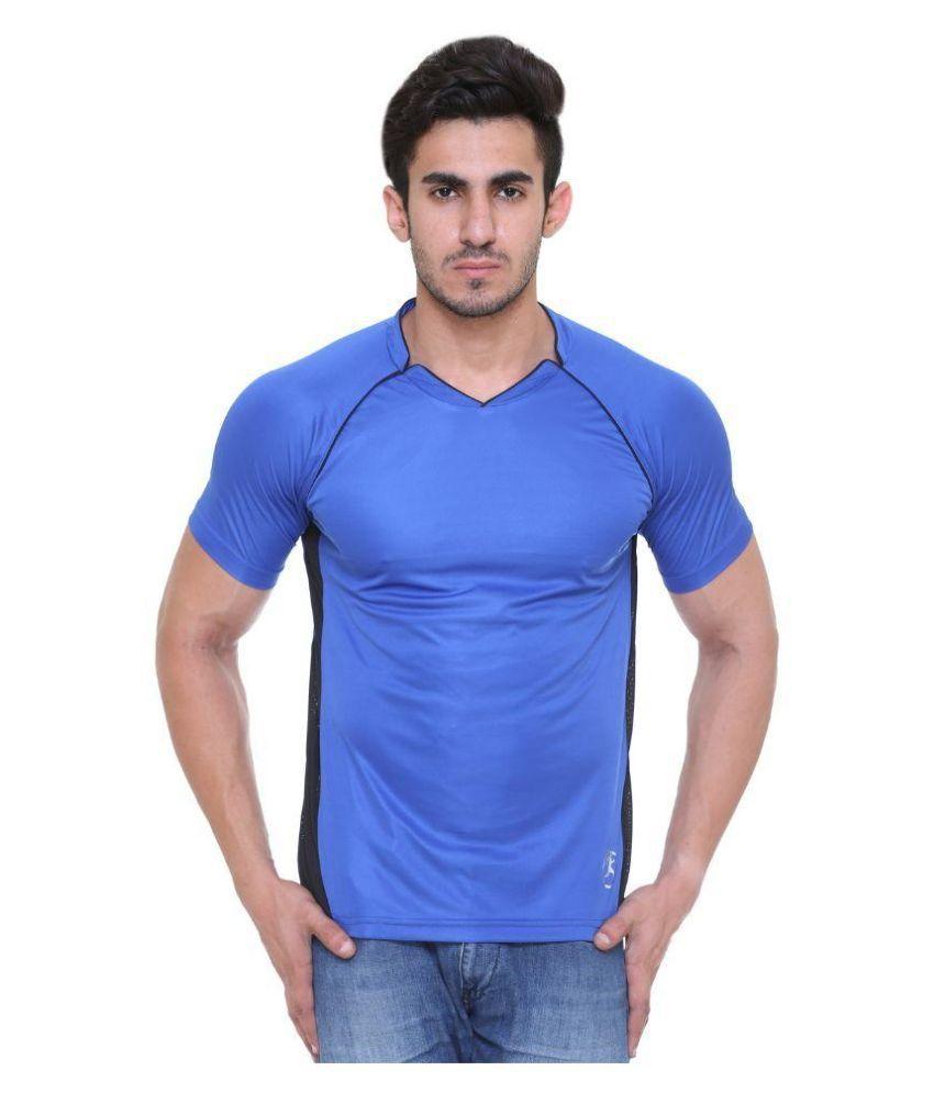 Hikes Blue V-Neck T Shirt