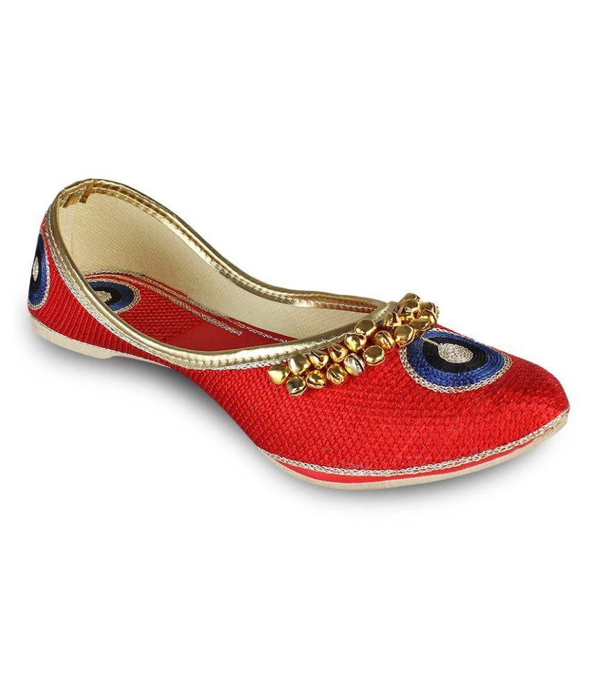 Tryfeet Red Ethnic Footwear
