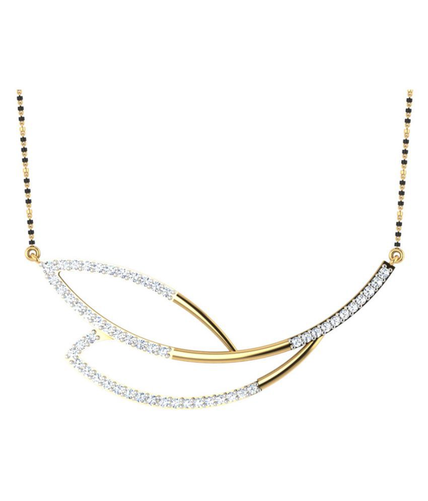Carat Forever 14Kt Yellow & White Gold Diamond Mangalsutra