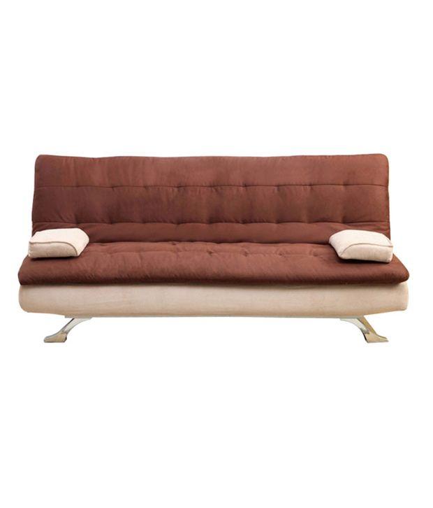 FabHomeDecor Cosy Fabric Sofa Cum Bed