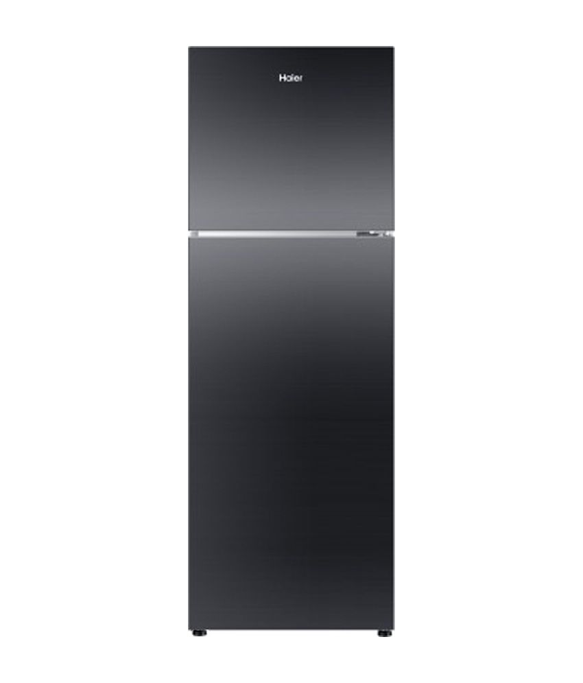 Haier 270 Ltr HRF-2904PKG-R Double Door Refrigerator - Black Glass