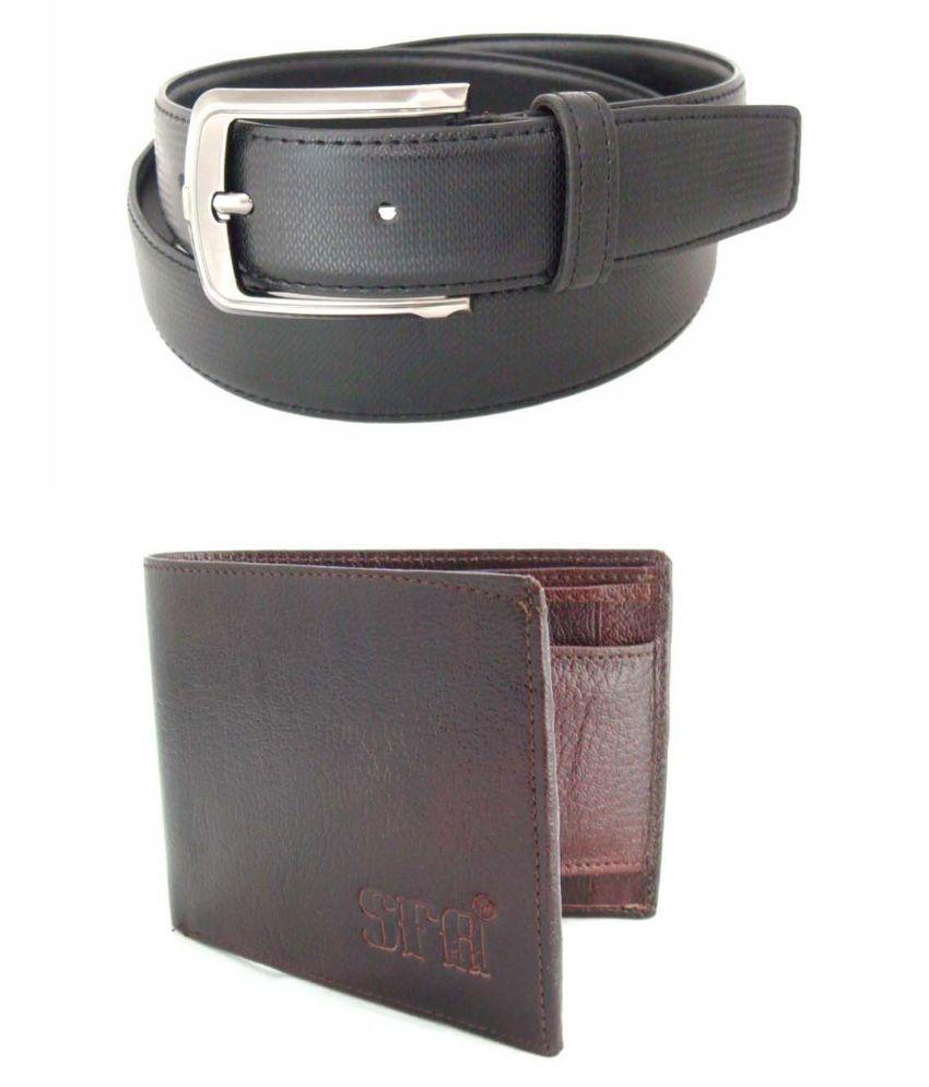 SFA Grey Formal Belt For Men With Wallet
