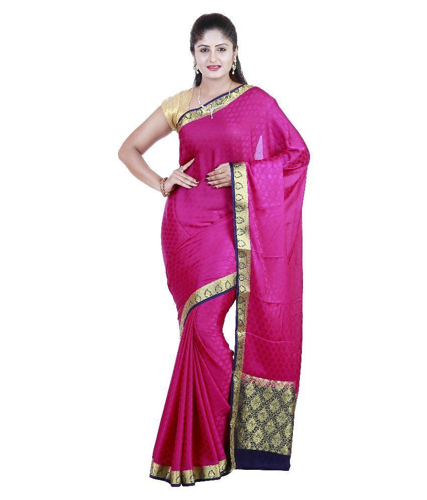 a260a021676 Sree Chandrakalaa Silk Kendra Magenta Mysore Silk Saree - Buy Sree  Chandrakalaa Silk Kendra Magenta Mysore Silk Saree Online at Low Price -  Snapdeal.com