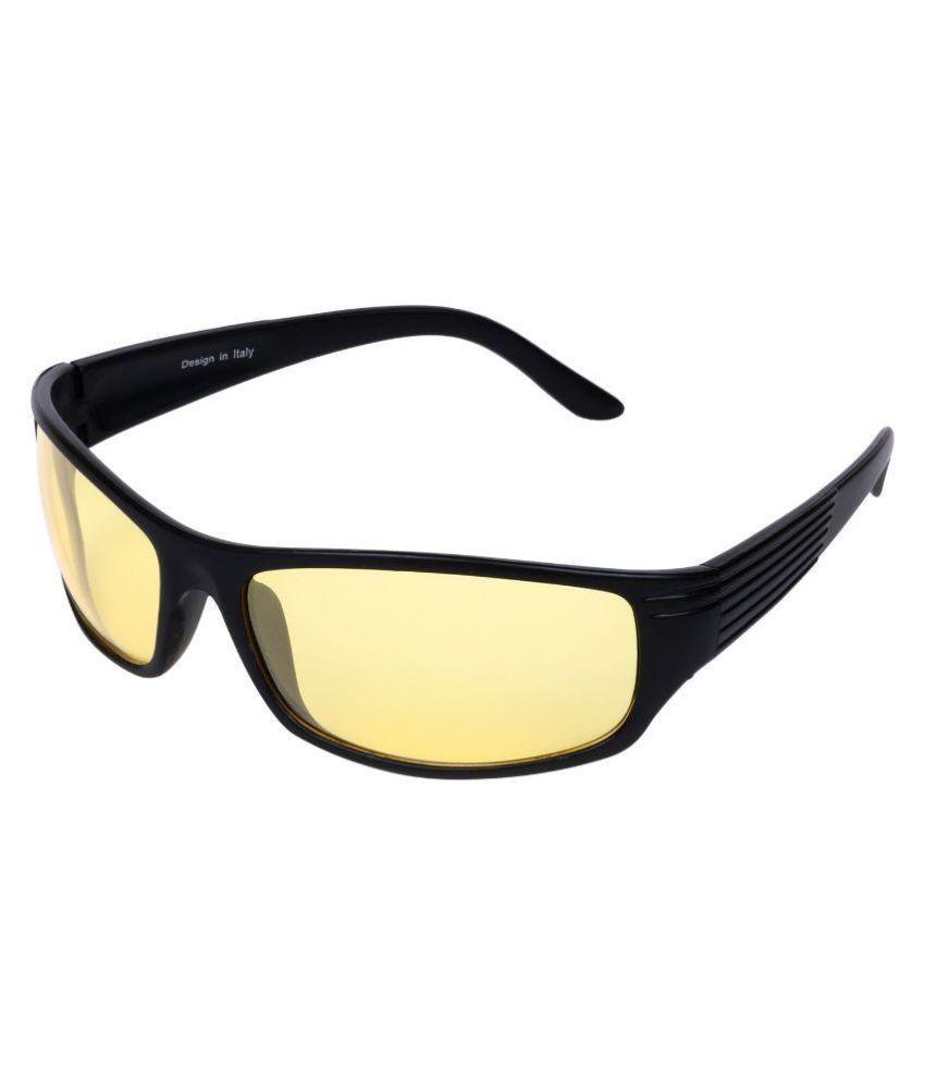 Aligatorr Yellow Wrap Around Sunglasses ( 5280 )