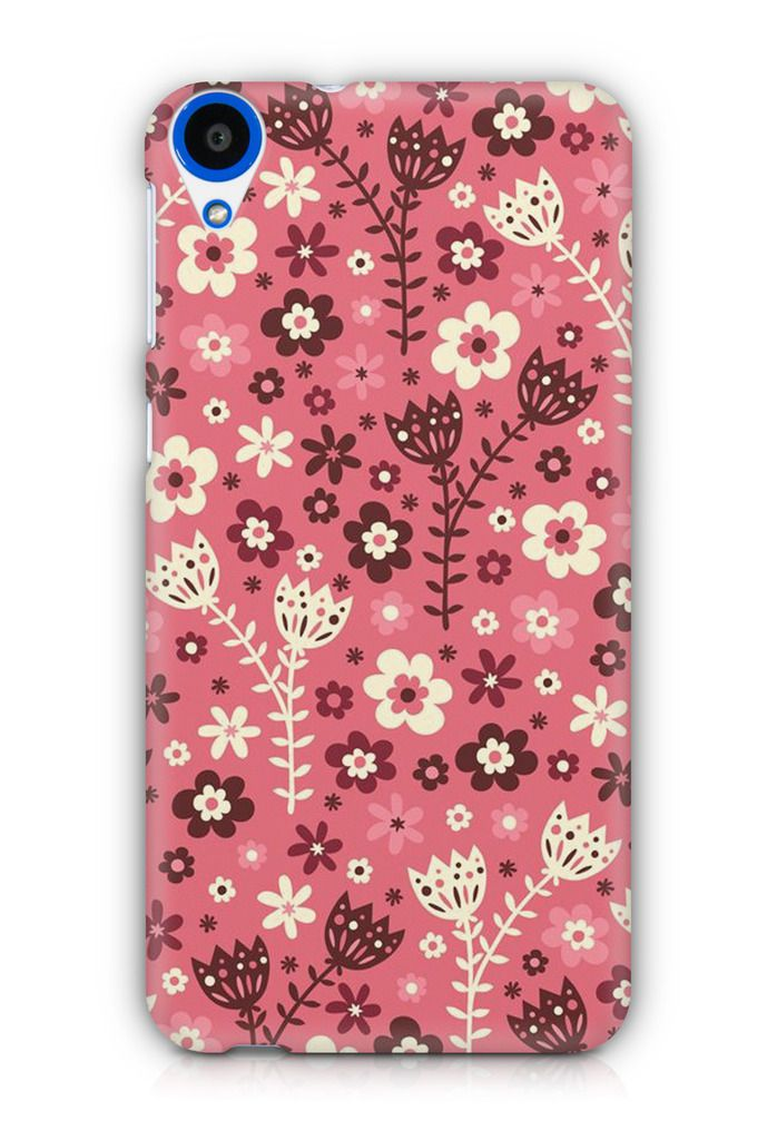 Cover Affair Flowers 3D Printed Back Cover Case for HTC Desire 728 / 728G