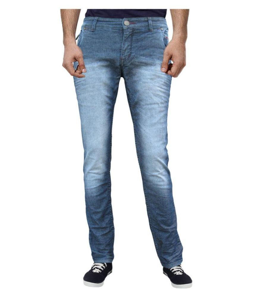 White Pelican Blue Slim Fit Faded Jeans