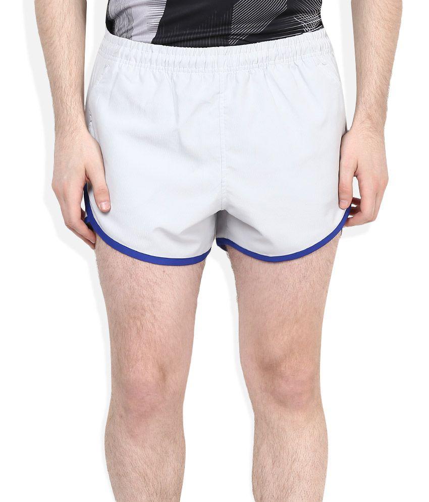 2Go White Polyester Shorts