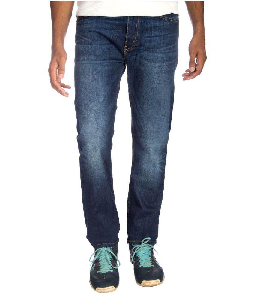 Levi's Blue Regular Fit Washed Jeans