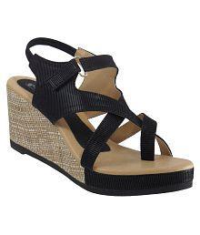 Elite Black Wedges Heels