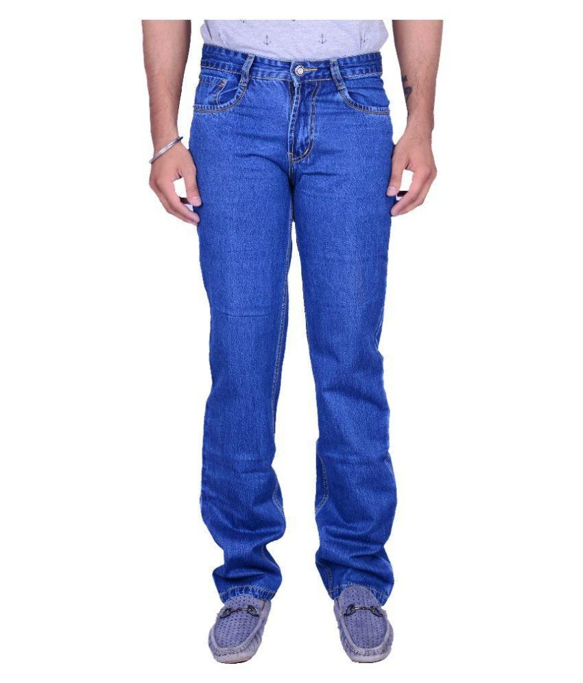 Aragon Blue Regular Fit Washed Jeans no