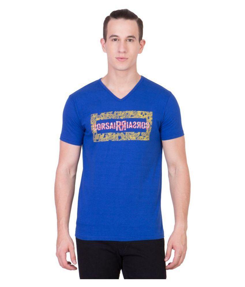 Cliths Blue V-Neck T Shirt