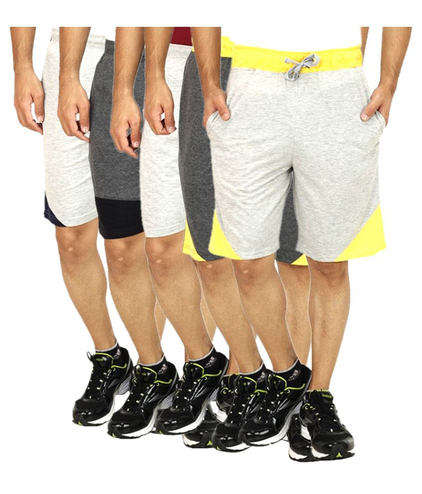 RK Traders Multi Shorts Pack of 5