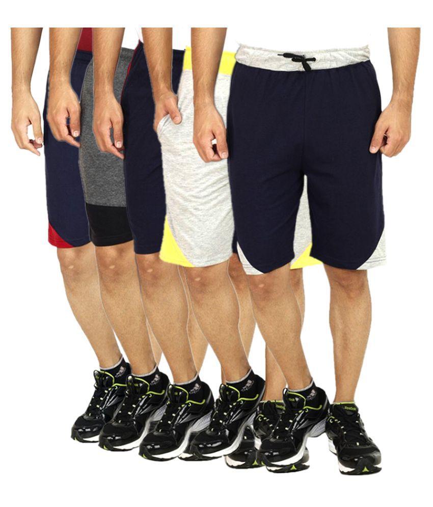Christy World Multi Shorts Pack of 5