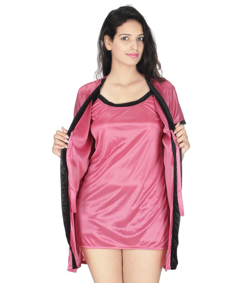 Wedding Satin Robes buy kanika pink satin robes online at best prices in india snapdeal robes