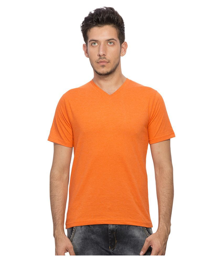 Clifton Orange V-Neck T Shirt