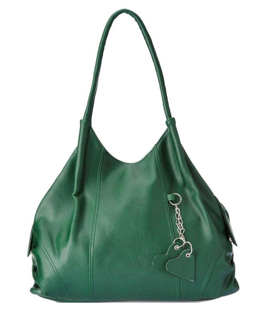 Fostelo Green Synthetic Shoulder Bag