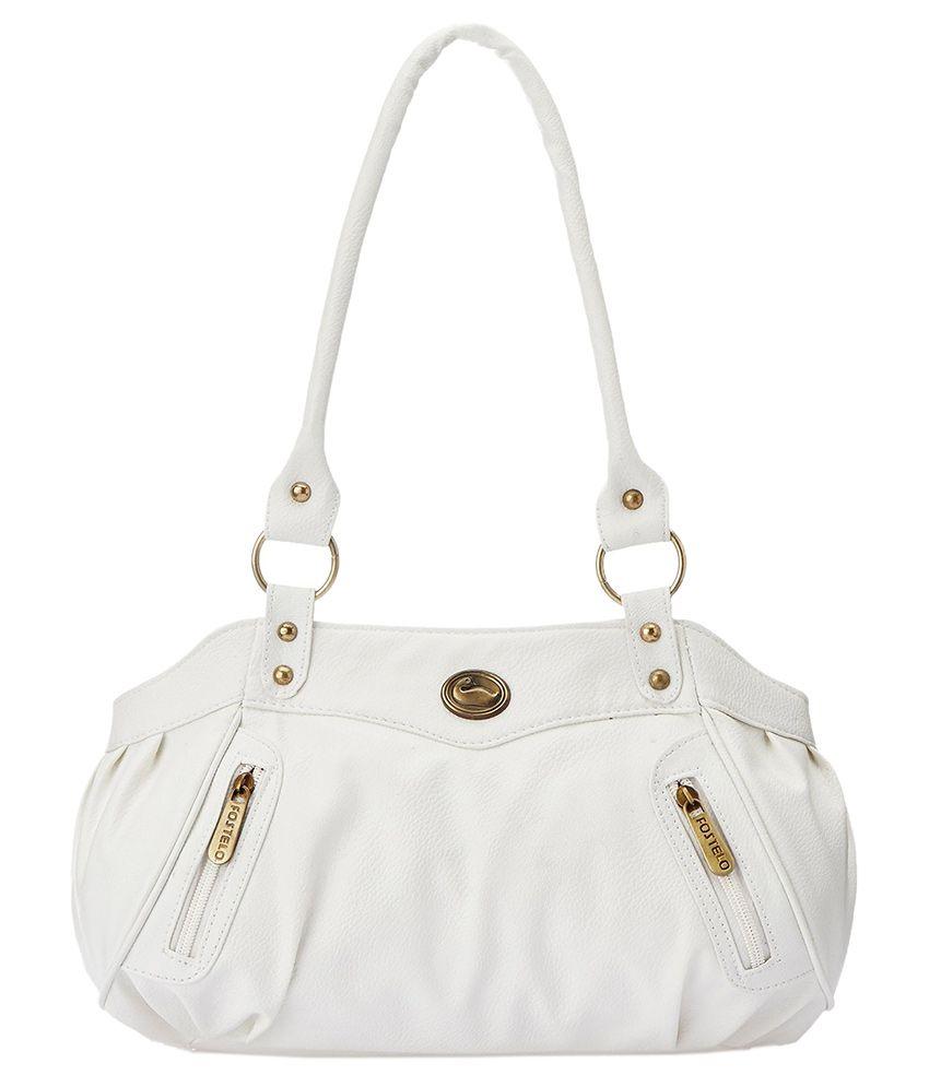 Fostelo White Synthetic Shoulder Bag