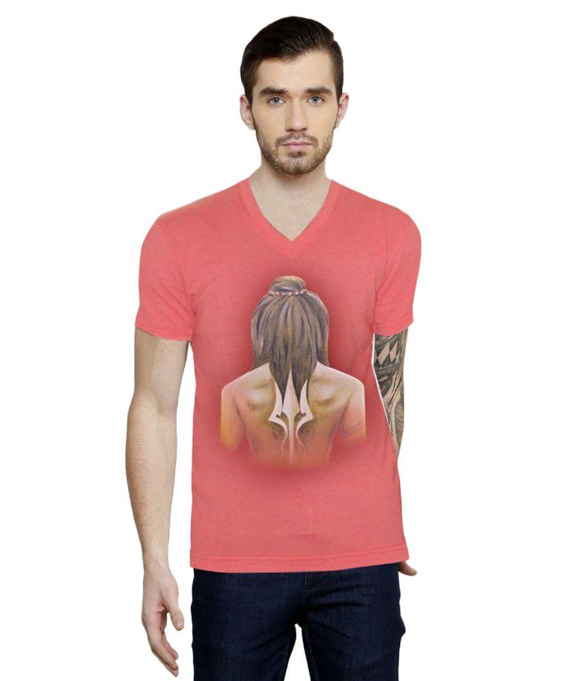 Rang Rage Peach V-Neck T Shirt