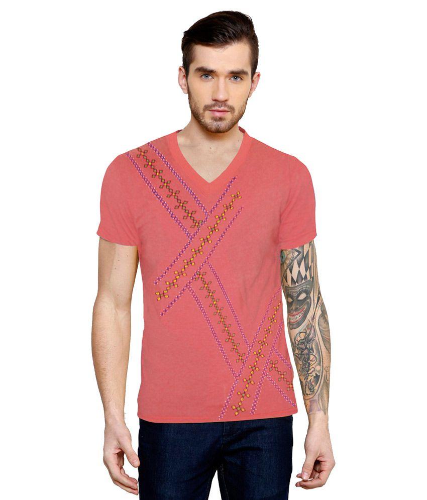 Rang Rage Pink V-Neck T Shirt