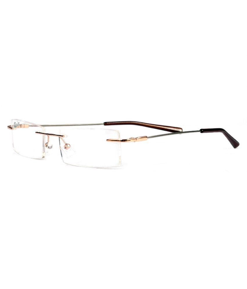 Redex Men Rectangle Rimless Power Eyeglasses