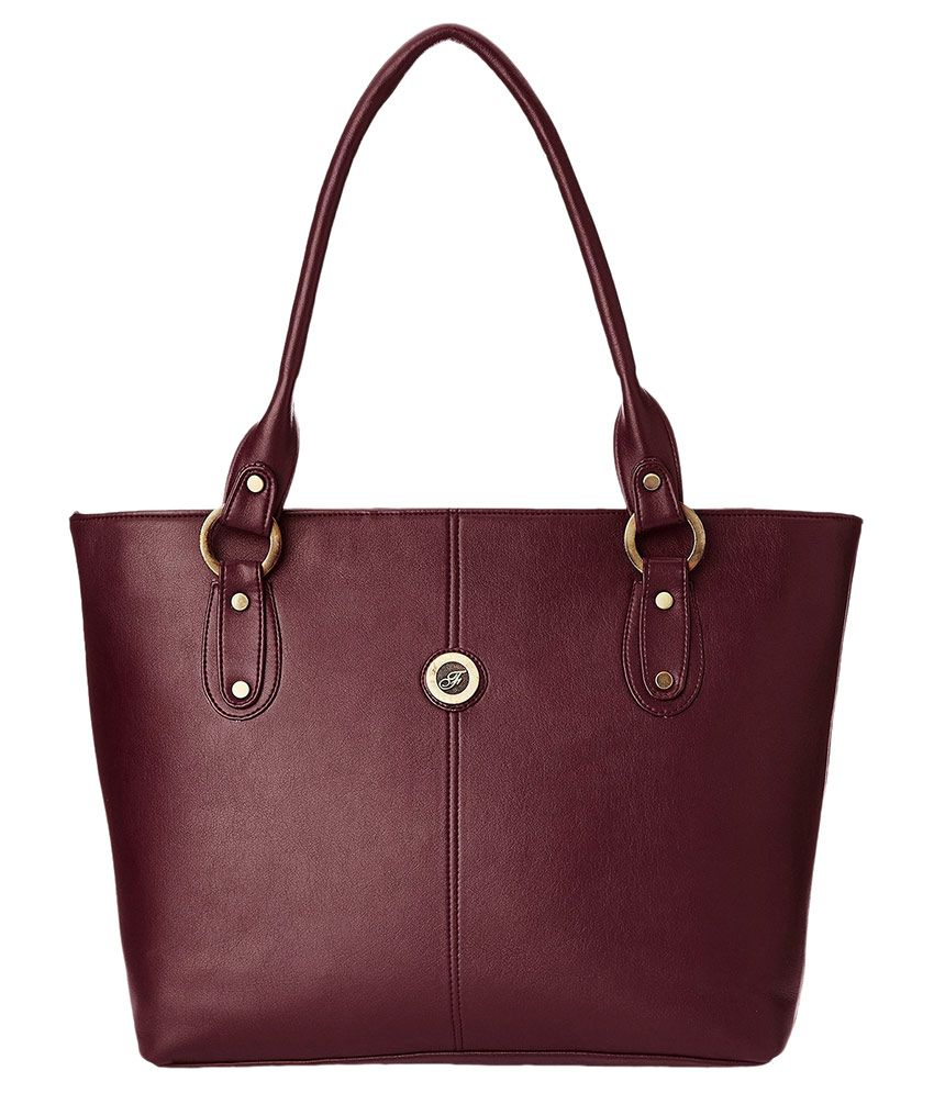 Fostelo Purple Synthetic Tote Bag