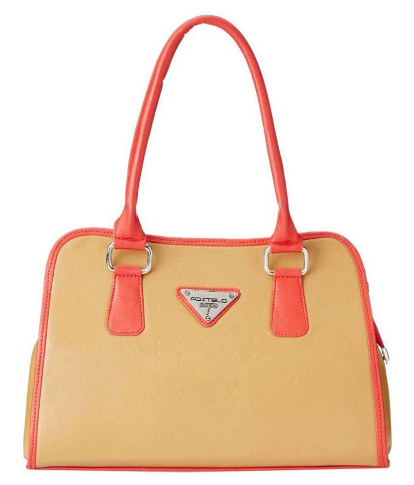 Fostelo Yellow Synthetic Shoulder Bag