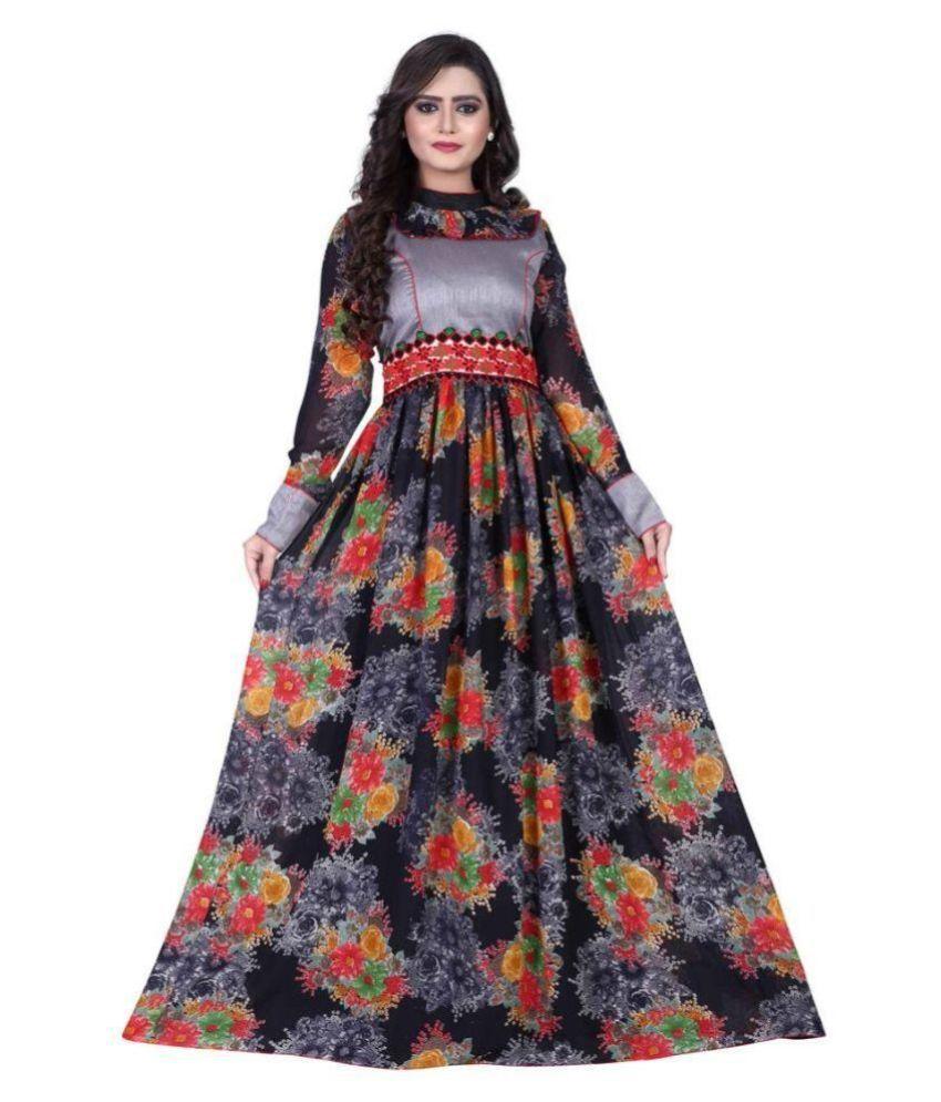 Fab Diwa Fashion Multicoloured Georgette Anarkali Salwar Suit