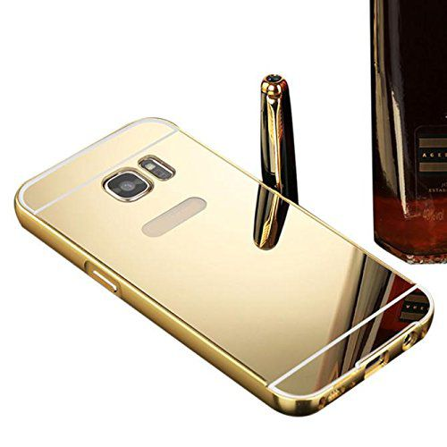 low priced eba9b 09770 KTC New Golden Mirror Back Cover For Samsung Galaxy S6 Edge Plus Mobile  Phone