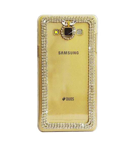 competitive price e8908 3479f Samsung A7 (2015) Bling Chain Girls Fancy Designer Back Case