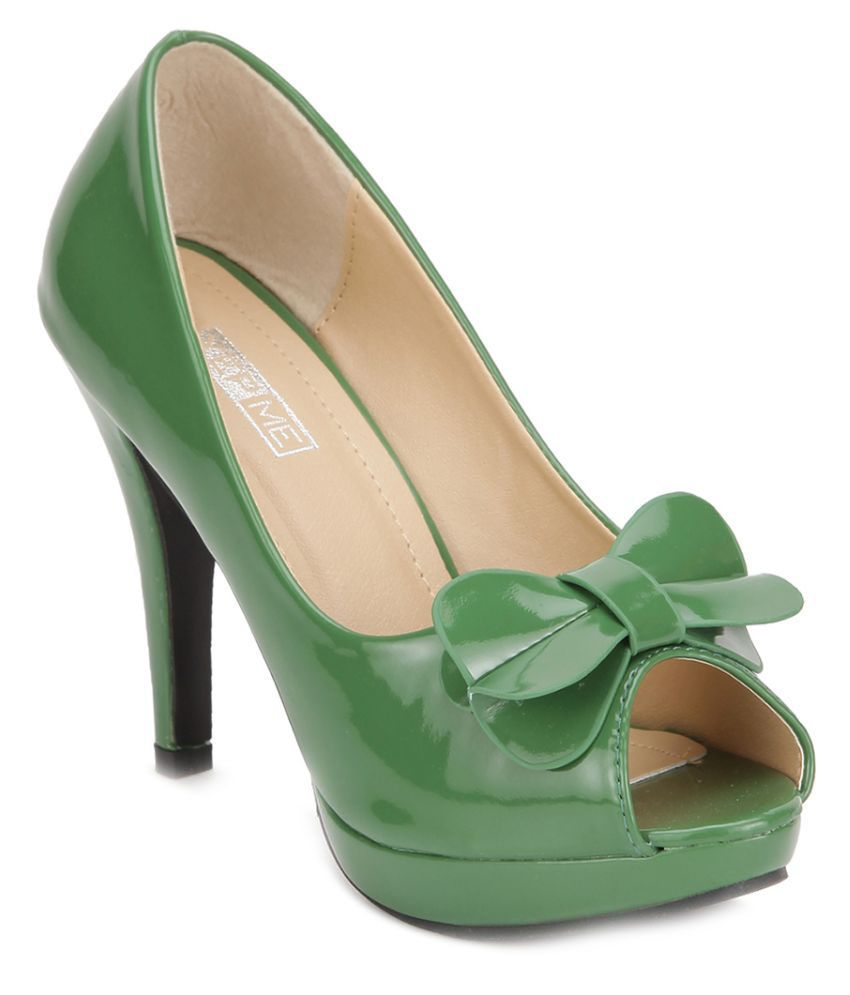 Yepme Green Stiletto Heels