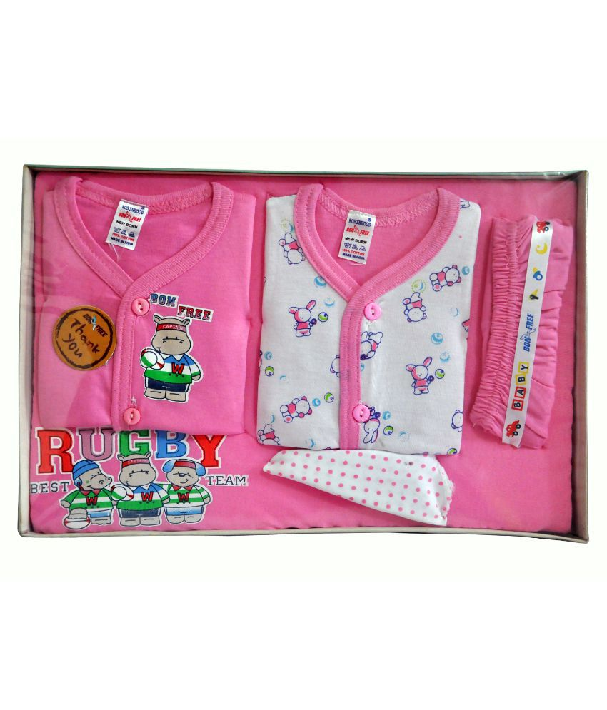 591089bb3 BelleGirl Cotton New Born Gift Set - 5 Pieces  Buy BelleGirl Cotton New  Born Gift Set - 5 Pieces at Best Prices in India - Snapdeal