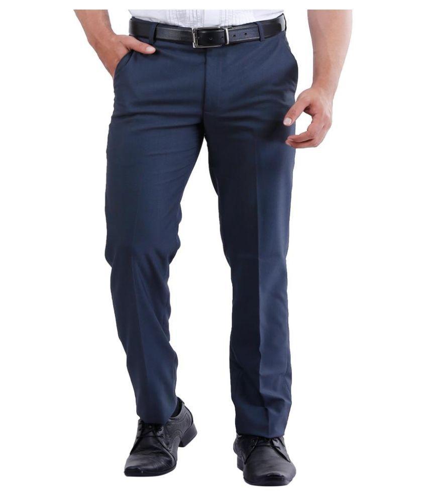 La Mode Blue Slim Fit Chinos